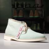 desert boot in cotone biologico colore acqua marina