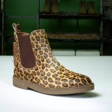 stivaletto wally walker modello beatle con tomaia animalier leopardo