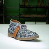 desert boot wally walker modello chukka con tomaia animalier zebra