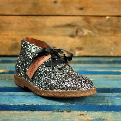 polacchino wally walker in glitter color argento