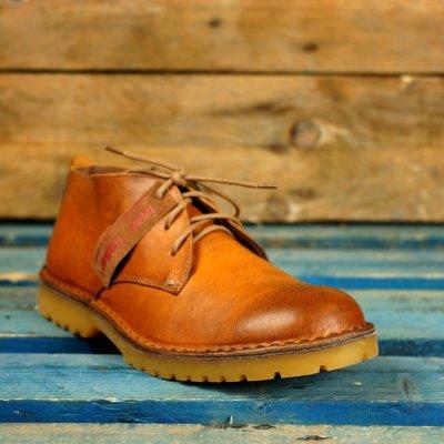 chukka Tazio giallo ocra scarpa wally walker in pelle