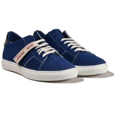sneaker last in pelle scamosciata blu - principale