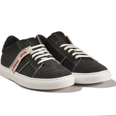 sneaker last in pelle scamosciata grigio - principale