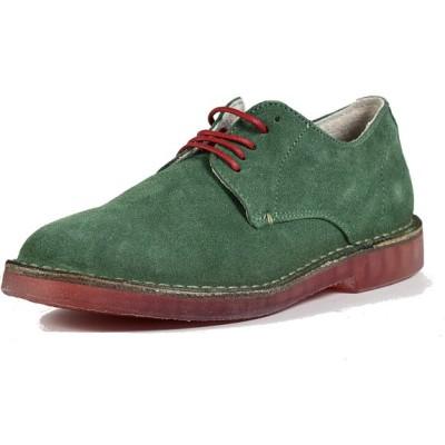 scarpa scamosciata lando color prato con suola rossa