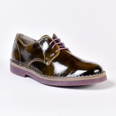 scarpa bassa nelson vernice fango